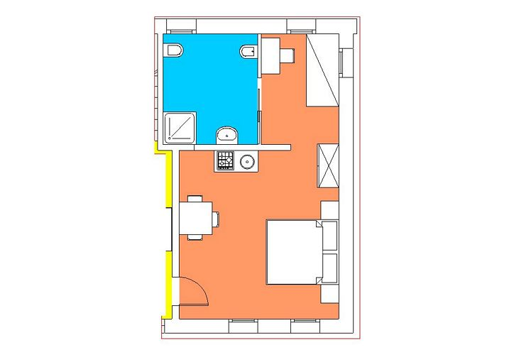 Studio Apartment, Barchessa ground floor 2+0